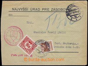 81652 - 1942 úřední nefrankovaný dopis - Porto platí příjemce