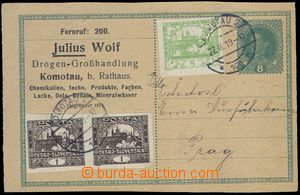 81659 - 1919 CPŘ3 Pa, dopisnice 8h Karel původně určená na perf