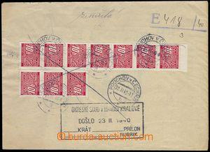 81684 - 1940 soudní obsílka vrácena zpět, vylepeny doplatní zn.