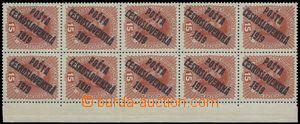 81734 -  Pof.37, 15h Charles, R marginal blk-of-10, 1x ST Ia, 2x ST