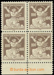 81737 -  Pof.F158, 100h brown, Košice forgery, block of four (!) wi
