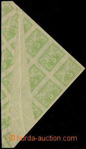 81739 - 1919 Pof.S2, print on gummed side, více-blok with big paper