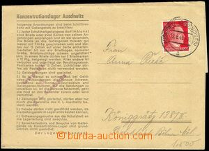 81745 - 1943 C.C. AUSCHWITZ  preprinted folded letter from camp to B