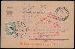 81757 - 1914 SRBSKO  lístek polní pošty zaslaný ze Srbska do Ma�