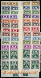 81767 -  Pof.SL13-24, complete set 24 pcs of L and P corner blk-of-4