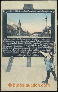 81775 - 1913 ROKYCANY - koláž dítě před tabulí; prošlá, odř