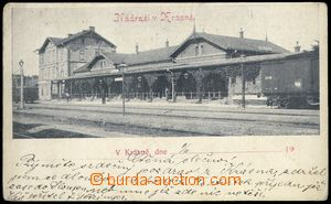 81783 - 1901 KRÁSNO N. B. - railway-station from railway yard, long