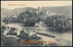 81785 - 1910 LOKET (Elbogen) - nádraží, vlak, nepoužitá, luxusn