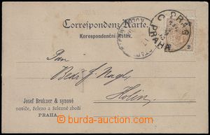 81814 - 1893 Maxa J18, card with additional-printing firm J. Brukner
