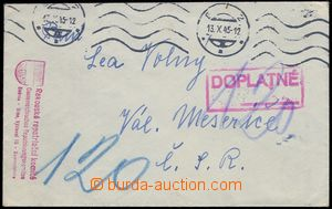 81817 - 1945 red postmark Austrian repatriation komité/ Collection