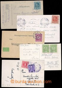 81827 - 1918 comp. 5 pcs of entires franked with. forerunner and par