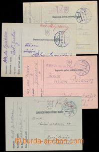 81830 - 1941-43 comp. 4 pcs of FP cards with postmarks 6a, 8a, 8b, 1