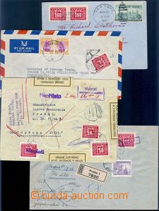 81832 - 1946-52 comp. 8 pcs of letters with postage-due, 1x Reg lett