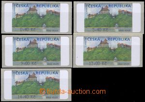 81839 - 2000 Pof.AT1, Veveří (castle), variant Ia, values 0,40CZK,