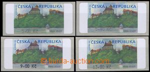 81840 - 2000 Pof.AT1, Veveří (castle), variant II, values 5CZK, 5,