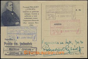 81861 - 1940 FP card with picture additional-printing F. Palacký, s