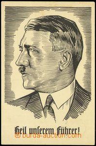 81871 - 1933 Hitler, reprodukce, dřevoryt, prošlá, příležitost