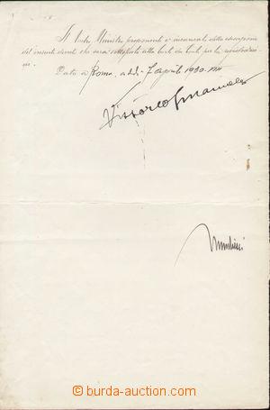 81884 - 1930 MUSSOLINI Benito (1883–1945), VITTORIO EMANUELE III (