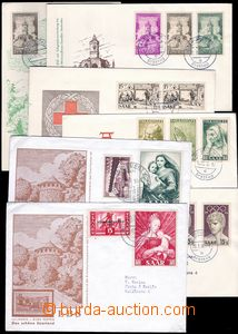 81891 - 1955-56 comp. 7 pcs of letters FDC, Us to Prague, c.v.. ca.