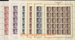 81904 - 1943 GENERAL GOVERNMENT  Mi.89-91, 101-103, portrait Hitler,
