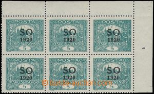 81912 -  Pof.SO3C joined bar types, 5h blue-green, corner blk-of-6,