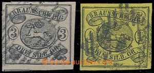 81928 - 1852-53 Mi.3, 6, Coat of arms, c.v.. 370€