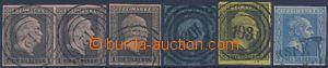 81929 - 1850-58 Mi.2-4, 11, + 2 2-páska, Král Friedrich Wilhelm IV
