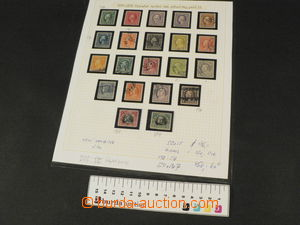 81938 - 1916 USA  selection of 21 pcs of stamps, Mi.223-242, placed