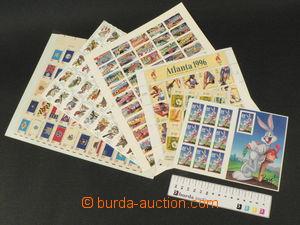 81940 - 1976-2002 USA  selection of miniature sheets and printing sh