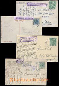 81961 - 1907-13 sestava 8ks pohlednic s pěknými otisky poštoven: