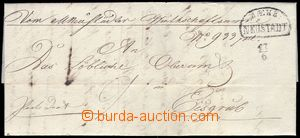 82001 - 1843 folded letter with nice print půlkruhového cancel. M&