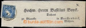 82029 - 1851 whole newspaper wrapper with pre-printed address Borten