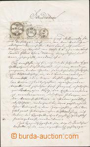 82033 - 1861 AUSTRIA  debenture bond with mounted revenues of issue