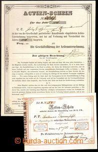 82079 - 1846-49 RAKOUSKO  Actien - Schein, 2ks, 1x vydaný v r. 1846