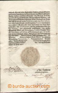82084 - 1690 LEOPOLD I.  (1640–1705), vlastnoruční podpis, císa