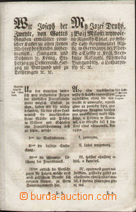 82091 - 1787 FIREFIGHTERS  fire-fighting edict Joseph II., Czech - G
