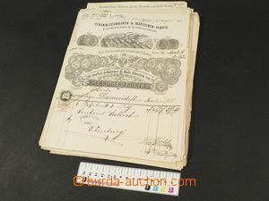 82101 - 1870-1900 FIREMNÍ ÚČTY / BRNO  sestava 43ks firemních ú