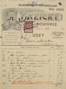 82103 - 1870-1920 FIREMNÍ ÚČTY / MORAVA, SLEZSKO  sestava 37ks fi