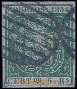 82120 - 1854 Mi.29, Znak 5R zelená, kat. 100€