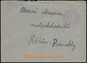 82345 - 1945 nevyplacený dopis,  provizorní 2-kruhové DR Poštovní úř