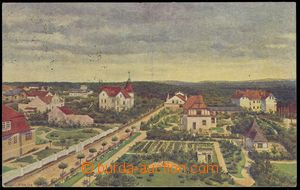82401 - 1920  KLÁNOVICE - malovaná, autor Hajný, vilová čtvrť; prošl