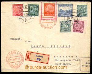 82543 - 1939 R-dopis s pestrou čs. frankaturou a zn. Pof.351, Sněm K