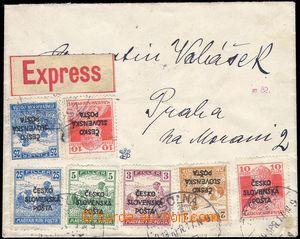 82687 - 1919 Ex-dopis vyfr. zn. Šrobárova vydání RV137, 138, 140
