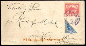 82691 - 1918 obyčejný dopis zaslaný 4. den vydání Hradčanských známe
