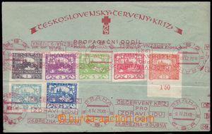 82833 - 1921 propagační obálka Červený kříž, nalepeny známk