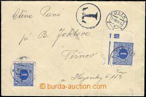 82845 - 1939 dopis zaslaný nevyplaceně z Kolína do Tišnova 21.7.