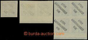 82905 -  Pof.60 3x, 62 4-blok, Novinové - Merkur vlevo, mírné až