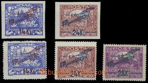 82922 - 1920 Pof. L1-3, I. letecké provizorium, L1, L2 - svěží,