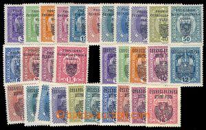 82970 - 1918 Pof.RV1-15, RV22-36, sestava 30ks známek I. a II. Pra�