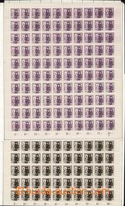 83063 -  Pof.162, 163, kompletní archy obou hodnot, 162 s DČ 3, 16